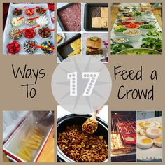 Easy Party Food for a Crowd – Kathryn Birkenbach Easy Party Food for a Crowd 17 Ways To Feed a Crowd – Ideas to feed a lot of people. Baptisms, baby blessings, graduation parties, wedding Fantastic way to keep the guests fed! Cooking For A Crowd, Food For A Crowd, Easy Party Food, Cheap Party Food, Party Food Bars, Budget Party Food, Large Party Food, Party Food Menu, Party Food Themes