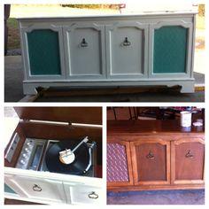 Vintage Stereo Cabinet.