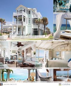 beach houses <3 is someone really living there? :o <33