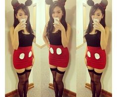 DIY Minnie costume  Maybe less prostitute-ish