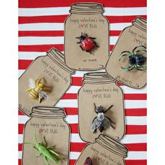 Love Bug Valentines via dandee-designs  DIY Valentine's Day Gifts #School #kids