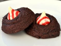 Chocolate Peppermint Blossoms #recipe #cookie