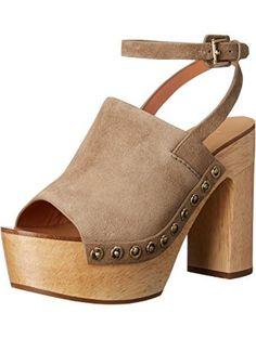 Sigerson Morrison Women's Quella Platform Sandal, Flint, 10 M US ❤ Sigerson Morrison