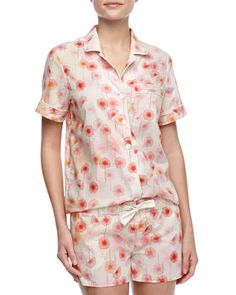 Eloise Cotton Dandelion-Print Shorty Pajama Set by Three J New York at Neiman Marcus.