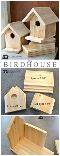 DIY birdhouse - only $3 to build and a great project for both kids and nature. #woodworkingplans