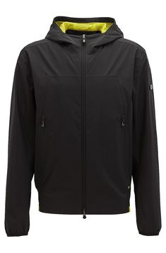 bfeb6599f HUGO BOSS Waterproof jacket in soft-touch technical fabric - Black Casual  Jackets from BOSS
