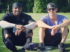 Ray Lewis and Michael Phelps. Baltimore's Best!