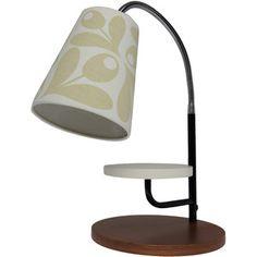 Orla Kiely Cream Acorn Cup Print Mini Task Table Lamp