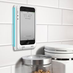 The Conductor from Blue Flame is truly a game changer charger for your iPhone. It lets you charge wirelessly and more importantly by just sticking your iPhone to the Conductor either in portrait or landscape mode. This wall-mounted charger uses magnetic charging system and includes phone case to protect your device and wall plate to cover electric outlets.