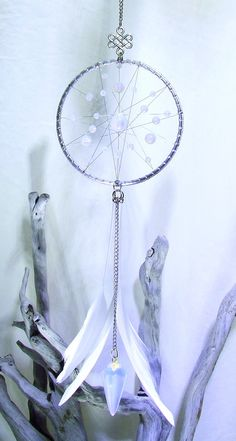 Opalite Crystal Dream Catcher Wall Hanging Opalite Pendulum Opalite Clear Quartz…