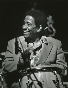 Mongo Santamaria April 1917 – February 2003 by Hillary Turner. Latin Music, My Music, All About Jazz, Afro Cuban, Classic Jazz, Cool Jazz, February 1, Band Photos, Music Images