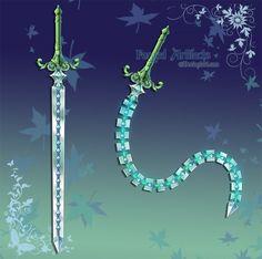 Custom Whip Sword by Forged-Artifacts.deviantart.com on @deviantART