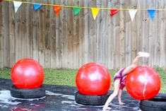 Beth and Co.: Wipeout Party (This is one fun fun party- scroll through the pictures and then watch the video! The kids at this party were but it looks like the adults had a blast too! Wipeout Birthday, Wipeout Party, Summer Birthday, Birthday Fun, Birthday Party Themes, Backyard Birthday, Birthday Cakes, Birthday Ideas, Party Games