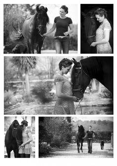 Horse/owner portrait pose. Emily Hancock Photography
