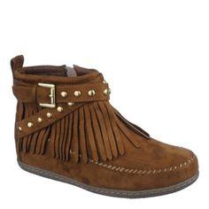 Shiekh Women's Fringe Ankle Boot Dahlia-S