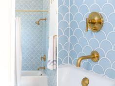 Bildresultat för yellow tile bathroom