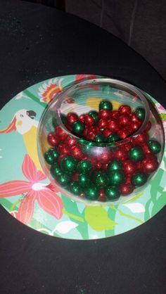 Glitter coated chocolate Christmas decorations!  I love my job!!