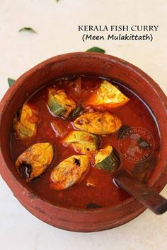 Kerala meen mulakittath ayala mulaku curry fish curry kerala style malabar fish curry mackerel fish curry red hot spicy curry seafood curry recipes The Effective Pictures We Offer You About frying fis Indian Fish Recipes, Fried Fish Recipes, Veg Recipes, Curry Recipes, Seafood Recipes, Healthy Recipes, Kerala Recipes, Kerala Fish Curry, Indian Fish Curry