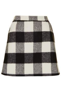 A fashion look from December 2013 featuring scoop neck top, topshop skirts and pearl necklaces. Browse and shop related looks. Gingham Skirt, Plaid Skirts, Flannel Skirt, Plaid Flannel, Jeans Dress, Jacket Dress, Sweater Weather, Chilly Weather, Tartan