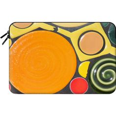 Bright abstract - Macbook Sleeve ($60) ❤ liked on Polyvore featuring accessories, tech accessories and macbook sleeve