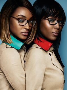 New opticals from The Gabardine Collection, worn by Jourdan Dunn and Naomi Campbell
