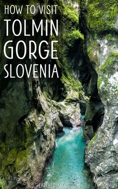 How to visit Tolmin Gorge in Slovenia, with a comparison with Vintgar Gorge. #tolmingorge #slovenia #travelideas #vintgar
