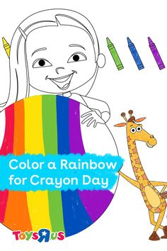 Title: Color a Rainbow Printable! Copy: Let the kids show their creative side by coloring in a beautiful rainbow. #sharetheplay #crayonday #printable #naturefun #artforkids