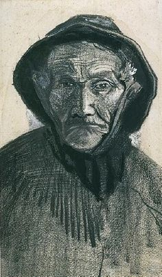 Fisherman with Sou'wester, head, 1883  Vincent van Gogh