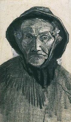 Fisherman with Sou'wester, head, 1883  Vincent van Gogh