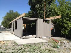 Shipping Container Homes: 2x 40ft Shipping Container Home, - Sarah House Project, - Glendale, Salt Lake City, Utah http://homeinabox.blogspot.com.au/2012/06/sarah-house-salt-lake-city-utah.html
