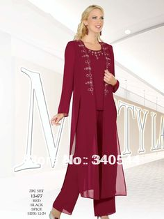 Mother of the Bride Pant Suits | Hot Sale Red Mother of the Bride Pant Suits…