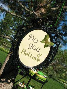 Peter Pan party sign