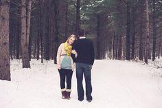 Winter Maternity Session | athena pelton photography