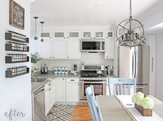 Great make-over of a pre-fab kitchen!
