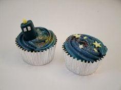 Doctor Who/#TARDIS cupcakes