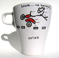 Zodiac Aries Coffee Mug / Cup Gift Set