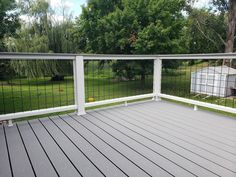 Porch Railing Kits, Balcony Railing, Deck Railings, Railing Ideas, Landscaping With Boulders, Big Deck, Landscape Design, Boulder Landscape, Big Backyard