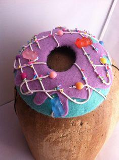 Sweet Tooth, Candy, Donut, Cocktail Hat ,Fascinator, Pillbox, Headpiece, vanellope von schweetz, wreck it ralph, doughnut, cake