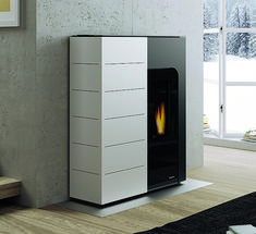 #Palazzetti Ginger #wood #pellet #Stove. For more detail http://www.nutechrenewables.com/space-and-hot-water-wood-pellet-stoves/ginger-wood-pellet-stove/