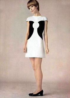 The Swinging Sixties — Pierre Cardin fashion, 1960s Dresses, Vintage Dresses, Vintage Outfits, 60s Mod Fashion, Vintage Fashion, Style Année 60, 1960s Style, Green Label, Moda Retro