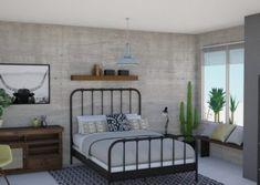 #industrialideas #homedecor #bedroomideas #concretewall #edesign #nz #interiordesign