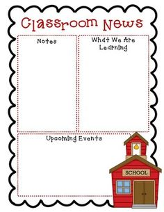 preschool newsletter template pinterest preschool newsletter