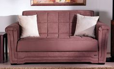 Victoria LoveSeat Sleeper in Obsession Truffle Microfiber by Sunset