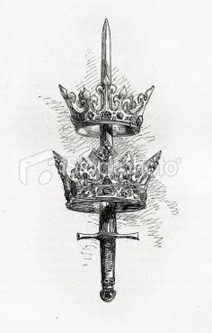 sword crown tattoo - Google zoeken