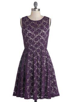 lacy purple a-line dress