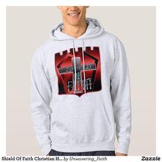 Shop Shield Of Faith Christian Hoodie created by Unwavering_Faith. Shield Of Faith, Stylish Hoodies, Keep Warm, Graphic Sweatshirt, Christian, Sweatshirts, Sweaters, Shopping, Fashion