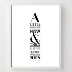 'Willy Wonka Quote' Print