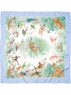 Hermès Vintage - jungle print scarf 8