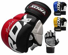 Martial Arts MMA Ideal for Focus Pads Maya Hide Leather Punch Mitts for Boxing Kickboxing Muay Thai Double End Speed Ball Workout Thai pad RDX Bag Gloves for Heavy Punching Training Sparring