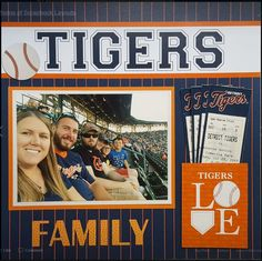 Premade Scrapbook Pages EZ Layout 371 BASEBALL